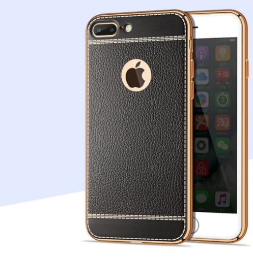 Litchi Grain Plating Case - iPhone 8 Plus 0